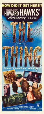 "The Thing from Another World (RKO, 1951). Insert (14"" X 36"")"