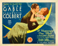 "Movie Posters:Academy Award Winners, It Happened One Night (Columbia, 1935). Title Lobby Card (11"" X14"") 1935 Academy Award Style.. ..."