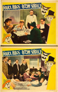 """Movie Posters:Comedy, Room Service (RKO, 1938). Lobby Cards (2) (11"""" X 14"""").. ... (Total:2 Items)"""