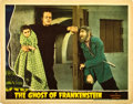 "Movie Posters:Horror, The Ghost of Frankenstein (Universal, 1942). Lobby Card (11"" X14"").. ..."