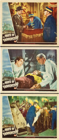 "Movie Posters:Horror, House of Frankenstein (Universal, 1944). Lobby Cards (3) (11"" X14"").. ... (Total: 3 Items)"