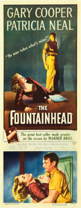 "Movie Posters:Drama, The Fountainhead (Warner Brothers, 1949). Insert (14"" X 36"").. ..."
