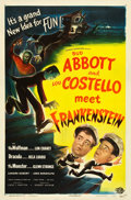 "Movie Posters:Horror, Abbott and Costello Meet Frankenstein (Universal International, 1948). A One Sheet (27"" X 41"").. ..."