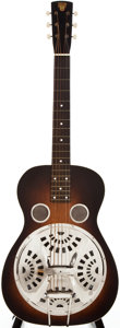 Musical Instruments:Resonator Guitars, Circa 1940 Dobro 37 Sunburst Resonator Guitar, #278....