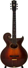 Musical Instruments:Acoustic Guitars, 1920s Gibson Style O Artist Sunburst Archtop Acoustic Guitar,#???14....