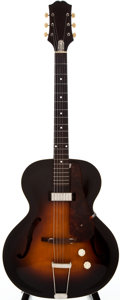 Musical Instruments:Acoustic Guitars, 1952 Epiphone Century Sunburst Acoustic Electric Guitar, #64036....