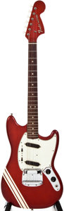 Musical Instruments:Electric Guitars, Late 1960s Fender Mustang Candy Apple Red Solid Body ElectricGuitar, #F273239....