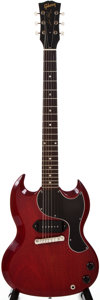 Musical Instruments:Electric Guitars, 1961 Gibson SE Les Paul Jr Cherry Solid Body Electric Guitar, #26736....