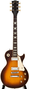 Musical Instruments:Electric Guitars, 1975 Gibson Les Paul Deluxe Sunburst Solid Body Electric Guitar,#99218515....
