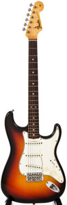 Musical Instruments:Electric Guitars, 1965 Fender Stratocaster Sunburst Solid Body Electric Guitar, #L97381....
