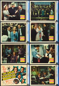 """The Great American Broadcast (20th Century Fox, 1941). CGC Graded Lobby Card Set of 8 (11"""" X 14""""). ... (Total:..."""