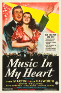 """Movie Posters:Musical, Music in My Heart (Columbia, 1940). One Sheet (27"""" X 41"""").. ..."""