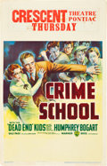 "Movie Posters:Crime, Crime School (Warner Brothers, 1938). Window Card (14"" X 22"").. ..."