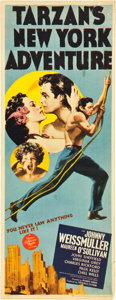 "Movie Posters:Adventure, Tarzan's New York Adventure (MGM, 1942). Insert (14"" X 36"").. ..."