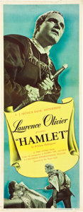 """Movie Posters:Foreign, Hamlet (Universal, 1949). Insert (14"""" X 36"""").. ..."""