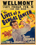 "Movie Posters:Adventure, The Lives of a Bengal Lancer (Paramount, 1935). Jumbo Window Card(22"" X 28"").. ..."