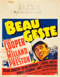 "Movie Posters:Adventure, Beau Geste (Paramount, 1939). Jumbo Window Card (22"" X 28"").. ..."