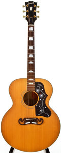 Musical Instruments:Acoustic Guitars, 1995 Gibson J-200 Natural Acoustic Guitar, #90875047....