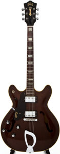 Musical Instruments:Electric Guitars, 1975 Guild SF4-WAL Walnut Stain Archtop Electric Guitar,#117505....
