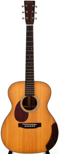 Musical Instruments:Acoustic Guitars, 1998 Martin OM-28BRL Natural Left-Handed Acoustic Guitar,#663239....