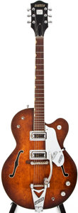 Musical Instruments:Electric Guitars, 1967 Gretsch Tennessean Brown Stain Archtop Electric Guitar,#107638....