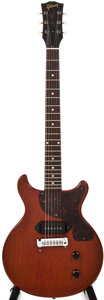 Musical Instruments:Electric Guitars, 1959 Gibson Les Paul Jr Cherry Solid Body Electric Guitar,#923969....
