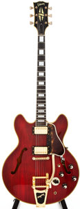 Musical Instruments:Electric Guitars, 1966 Gibson ES-355 Cherry Semi-Hollow Body Electric Guitar, #858518....