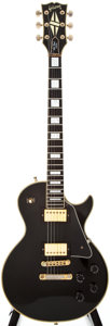 Musical Instruments:Electric Guitars, 1976 Gibson Les Paul Custom Black Solid Body Electric Guitar, #00125067....