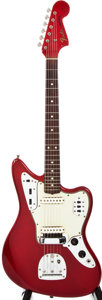 Musical Instruments:Electric Guitars, 1965 Fender Jaguar Candy Apple Red Solid Body Electric Guitar,#L82810....