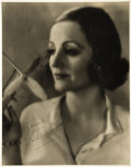 "Movie Posters:Miscellaneous, Tallulah Bankhead by Bert Longworth (Paramount, 1930s). Autographed Portrait Photo (10.75"" X 13.5"").. ..."