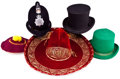 Movie/TV Memorabilia:Costumes, Five Whimsical Hats, 1950s-1970s.... (Total: 7 )