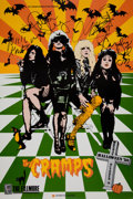 Music Memorabilia:Autographs and Signed Items, The Cramps Band-Signed Poster....