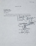 Music Memorabilia:Autographs and Signed Items, Rolling Stones Band-Signed Agreement....