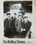 Music Memorabilia:Autographs and Signed Items, Rolling Stones Band-Signed Photo, Including Brian Jones....