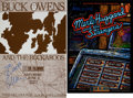 Music Memorabilia:Autographs and Signed Items, Buck Owens and Merle Haggard Signed Concert Posters.... (Total: 2Items)
