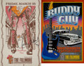 Music Memorabilia:Autographs and Signed Items, The Rolling Stones Related - Ron Wood and Buddy Guy Signed ConcertPosters.... (Total: 2 Items)