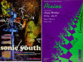 Music Memorabilia:Autographs and Signed Items, Sonic Youth and The Pixies Band-Signed Concert Posters.... (Total:2 Items)