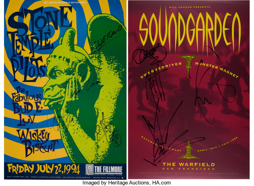 Soundgarden and Stone Temple Pilots Band-Signed Concert | Lot #46325 ...