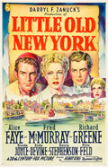 "Movie Posters:Comedy, Little Old New York (20th Century Fox, 1940). One Sheet (27"" X40.5"") Style A.. ..."