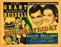 "Movie Posters:Comedy, His Girl Friday (Columbia, 1940). Title Lobby Card (11"" X 14"")....."