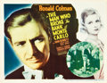 """Movie Posters:Romance, The Man Who Broke the Bank at Monte Carlo (20th Century Fox, 1935). Title Lobby Card (11"""" X 14"""").. ..."""