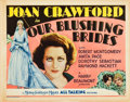 """Movie Posters:Drama, Our Blushing Brides (MGM, 1930). Title Lobby Card (11"""" X 14"""").. ..."""