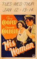 "Movie Posters:Drama, His Woman (Paramount, 1931). Window Card (14"" X 22"").. ..."