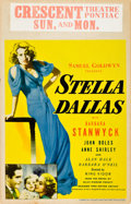 "Movie Posters:Drama, Stella Dallas (United Artists, 1937). Window Card (14"" X 22"").. ..."