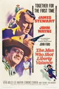 """Movie Posters:Western, The Man Who Shot Liberty Valance (Paramount, 1962). One Sheet (27""""X 41"""").. ..."""