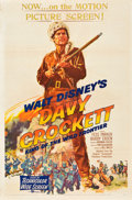 "Movie Posters:Western, Davy Crockett, King of the Wild Frontier (Buena Vista, 1955). OneSheet (27"" X 41"").. ..."