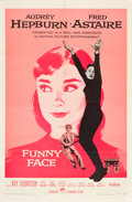 """Movie Posters:Romance, Funny Face (Paramount, 1957). One Sheet (27"""" X 41"""").. ..."""