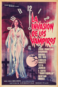 """Movie Posters:Horror, Invasion of the Vampires (Argentina Sono Film, 1963). One Sheet (29"""" X 43"""").. ..."""