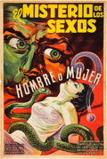 "Movie Posters:Exploitation, The Mystery of the Sexes (Unknown, 1950s). Argentinean Poster (29"" X 43"") Osvaldo Venturi Art.. ..."