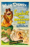 "Movie Posters:Animation, Lambert, the Sheepish Lion (RKO, 1952). One Sheet (27"" X 41"").. ..."